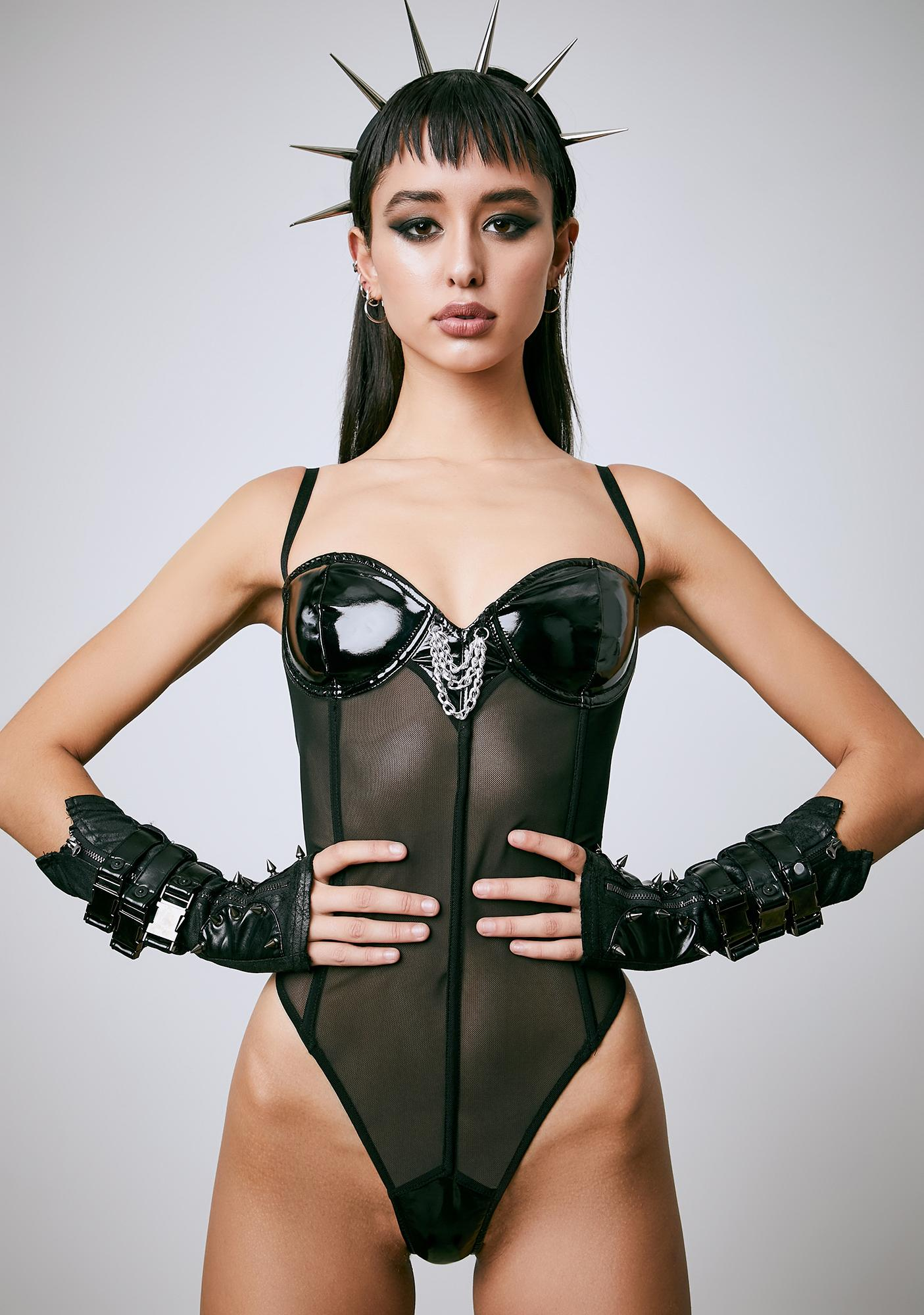 Current Mood Icons Only Mesh Bodysuit