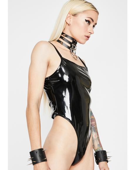 Sinfully Lethal Lust Vinyl Bodysuit
