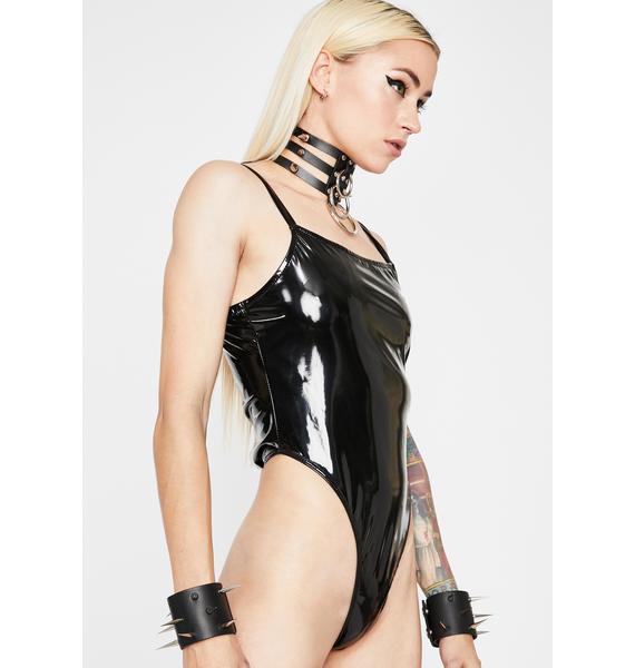 Sinfully Lethal Lust Vinyl Bodysuit