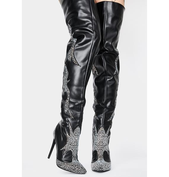 AZALEA WANG Fazi Thigh High Boots
