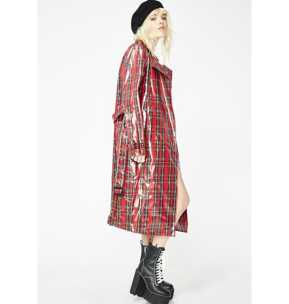 Plaid Patty Trench Coat
