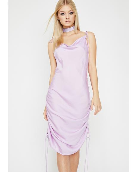 Lilac Oh She Bad Slip Dress