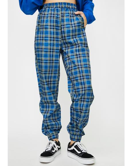 Checkered High Waist Slim Joggers