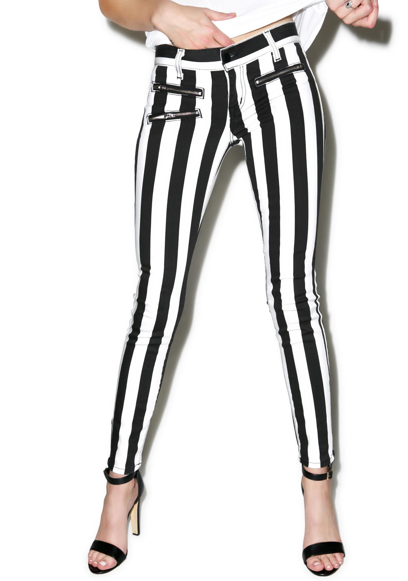 Lydia Striped Skinny Jeans | Dolls Kill