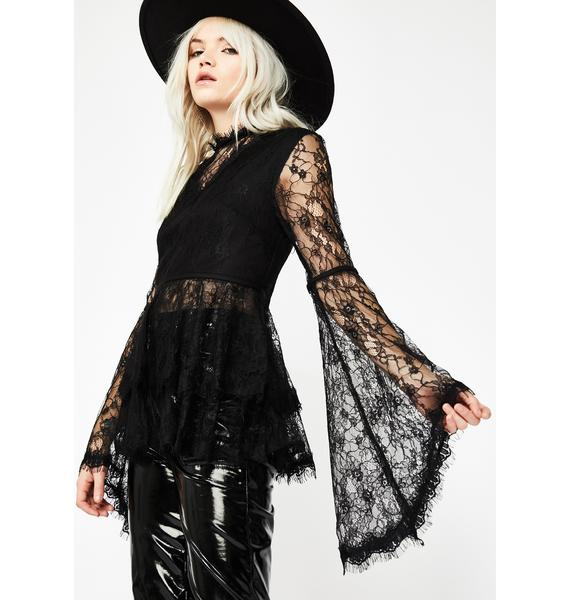Hex Magic Bell Sleeve Blouse