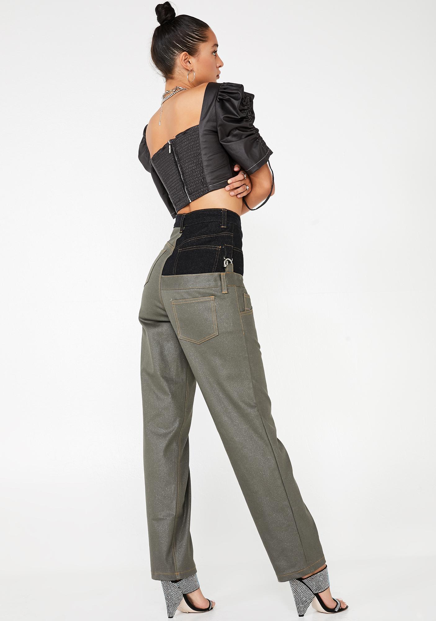 Stuck on Stupid Glitter Jeans
