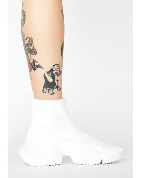 White Vegas Sock Sneakers