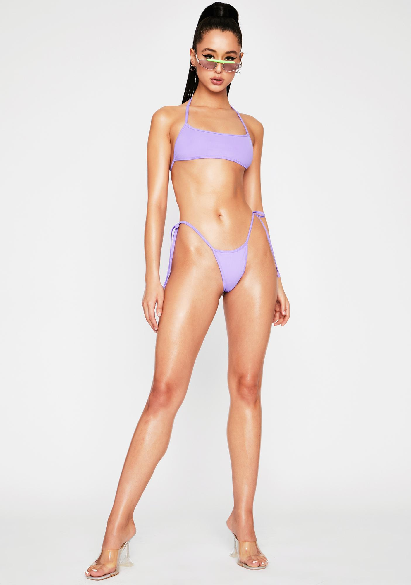 OH SHIT Purple Tyra Bikini Bottoms