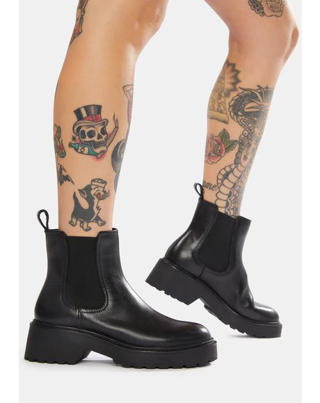 Trap Leather Chelsea Boots