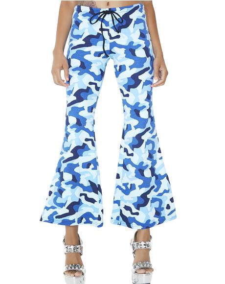 Off Duty Camo Flare Pants