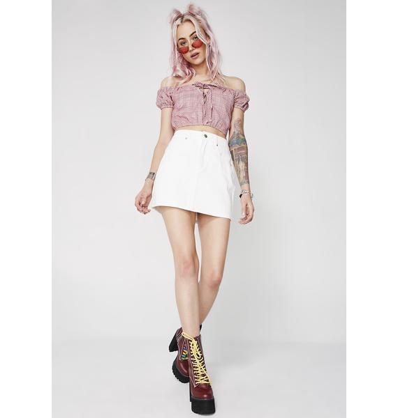 Run This Town Denim Skirt