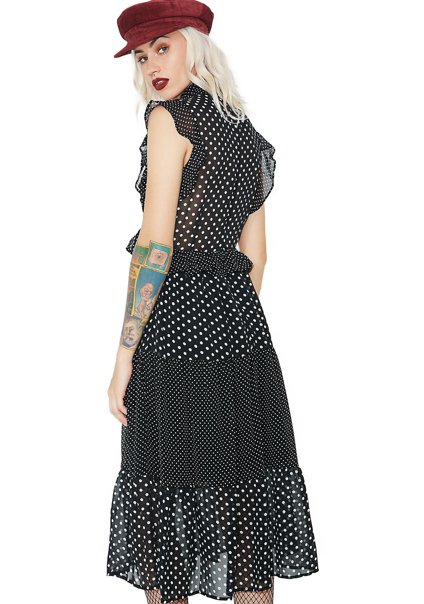 Gettin' Good Polka Dot Dress