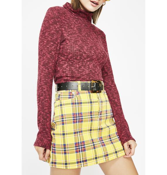Class Of Baddies Plaid Skirt