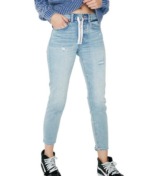 Hangin' Around Zipper Skinny Jeans