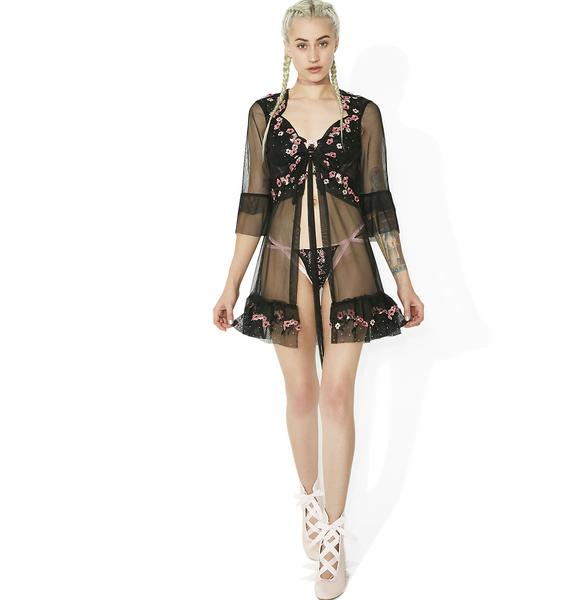 For Love & Lemons Hibiscus Tulle Robe