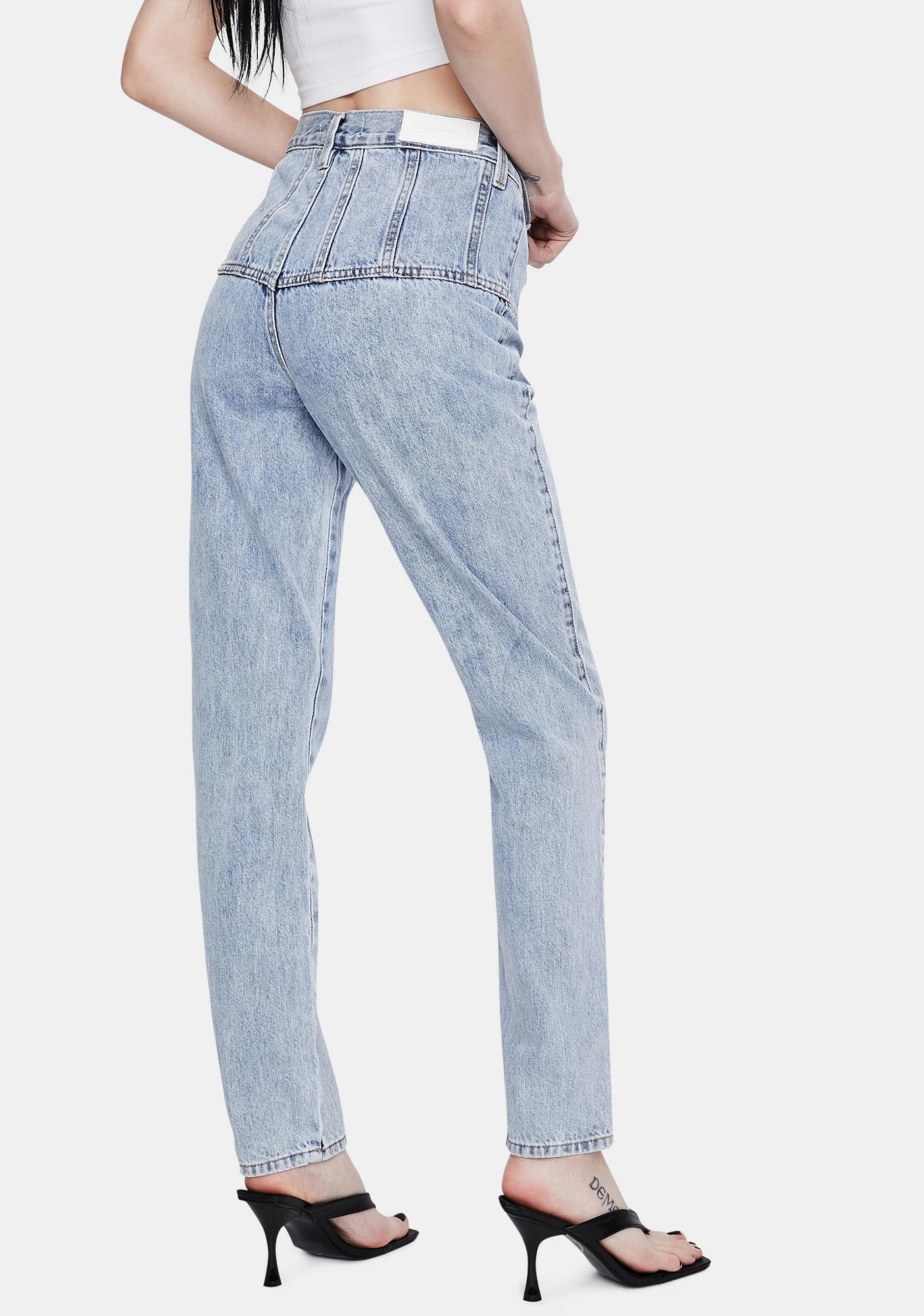 Neon Blonde Siren Tapered High Waist Jeans