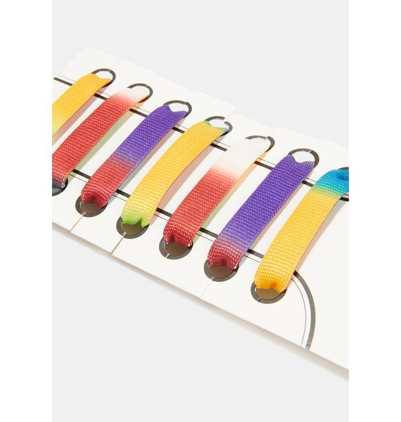 Prismatic Color Run Tie Dye Shoelaces