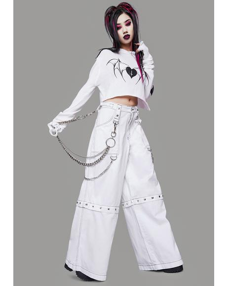 Pure Power Of Evil Convertible Wide Leg Pants