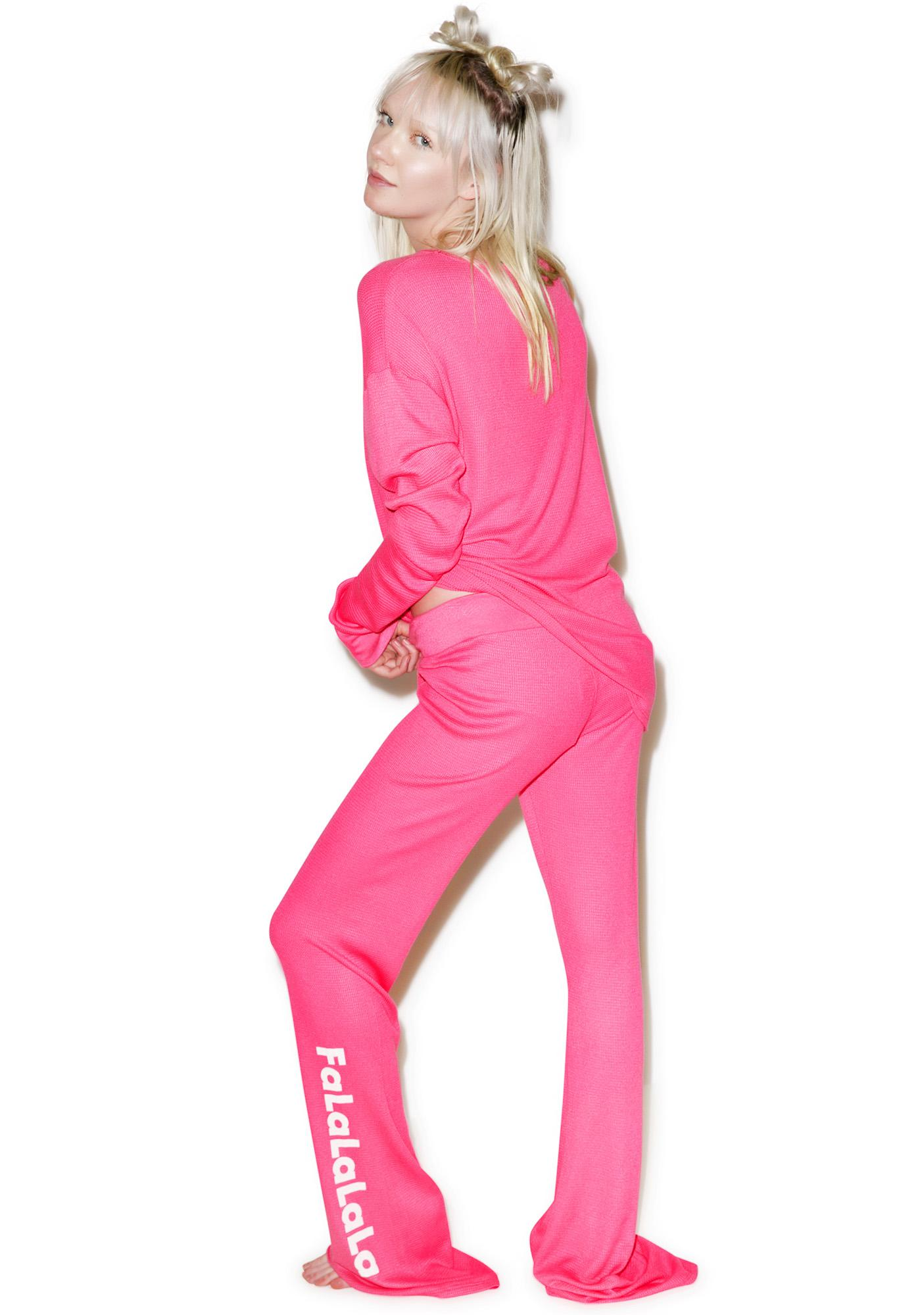 Wildfox Couture Frosty Face Polar Pajama Set