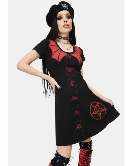 Demon Doll Flare Short Sleeve Dress