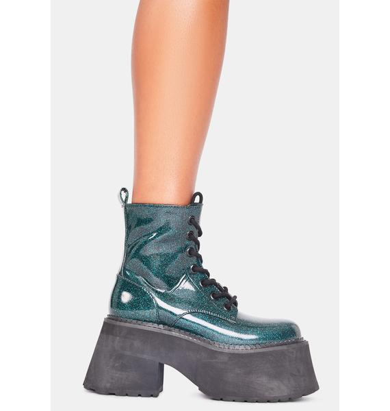 dELiA*s by Dolls Kill Absolute Alakazam Glitter Boots