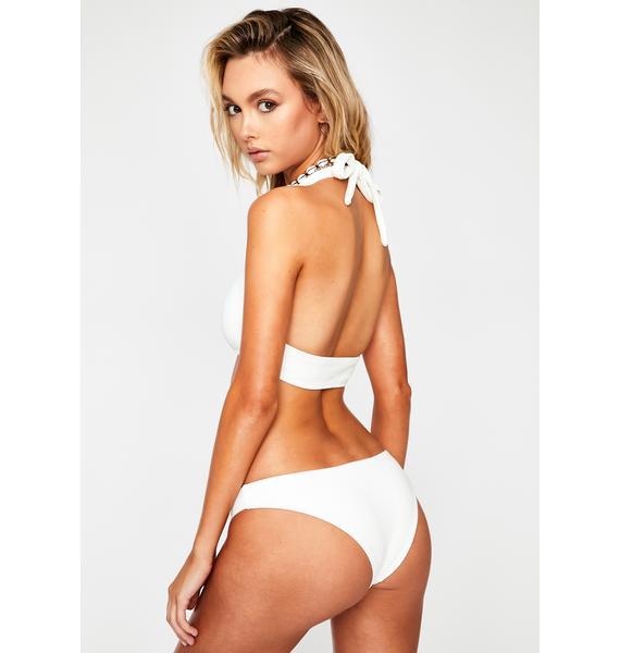 Frankies Bikinis White Hanalei Bikini Bottoms