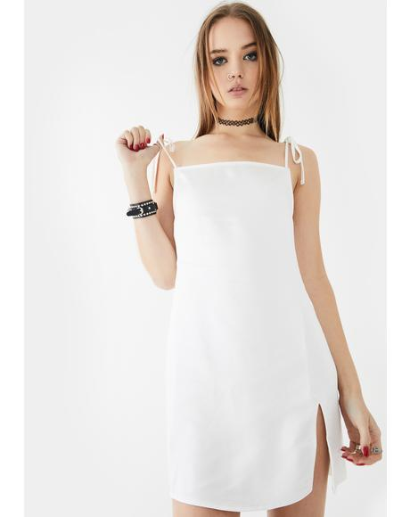 Ivory Doella Satin Mini Dress