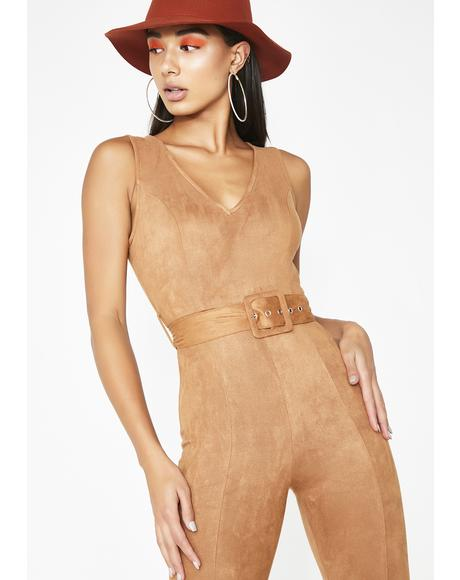 Foxy Mami Belted Jumpsuit