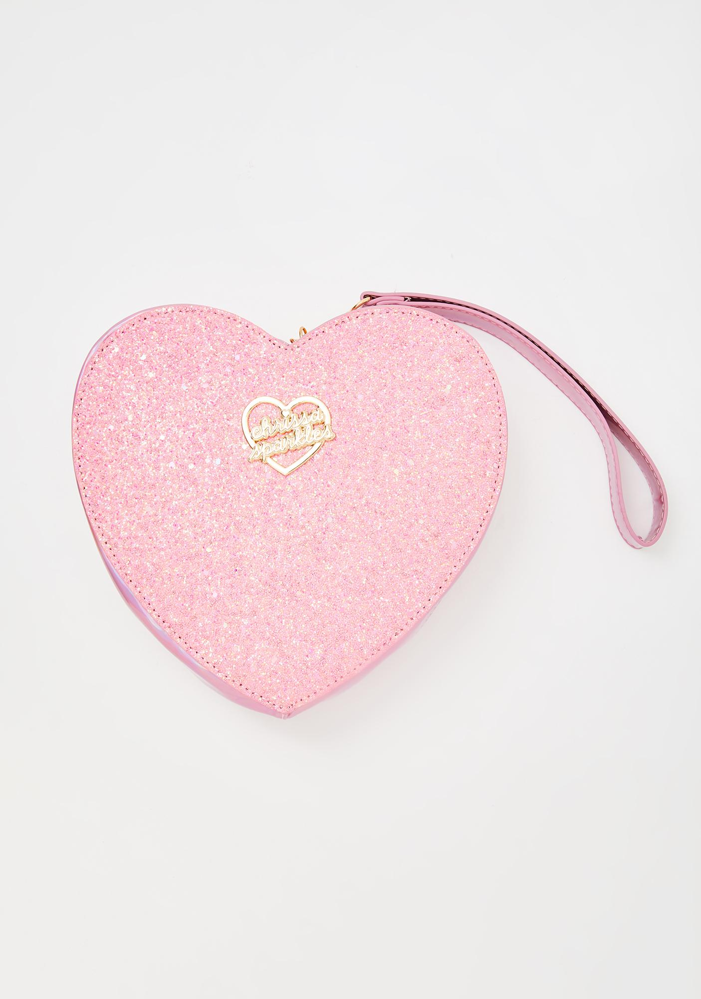 Chrissa Sparkles Glitter My Heart Clutch