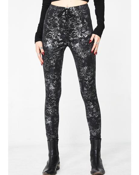 Black Noise Leggings