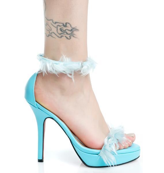 O Mighty Blu Furbae Heels