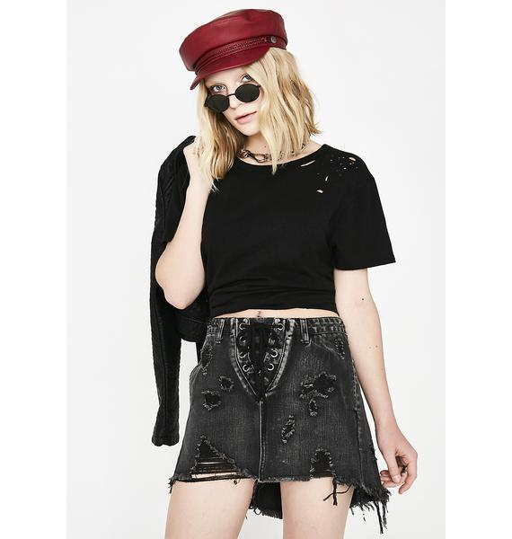 Mizz Thang Lace-Up Skirt