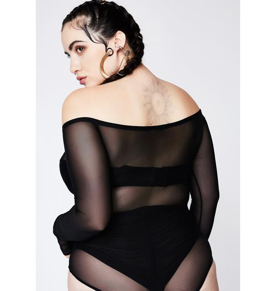 Poster Grl Always Hustlin' Off-Shoulder Bodysuit