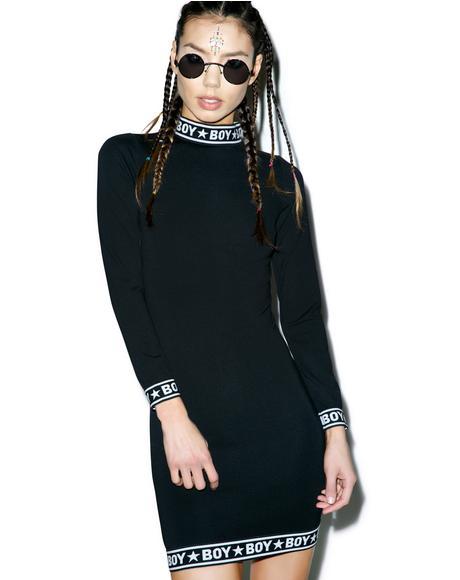BOY Tape Long Sleeve Dress