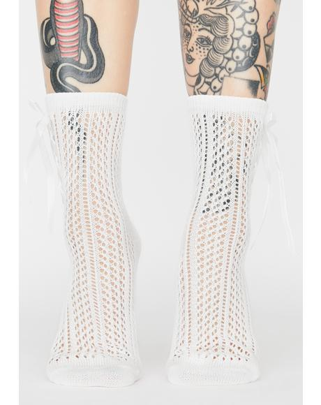 Ghost Next Door Knit Socks