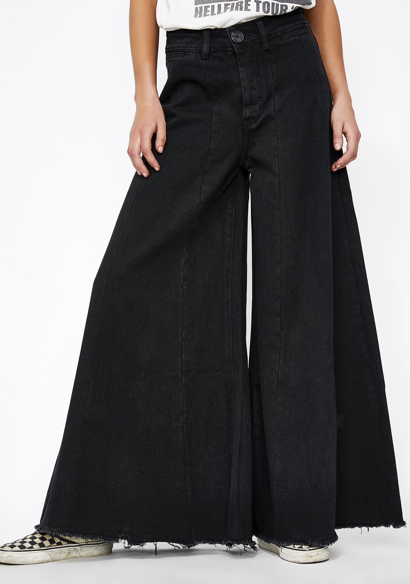 943f30192da8 Extra Wide Leg Jeans Black Denim