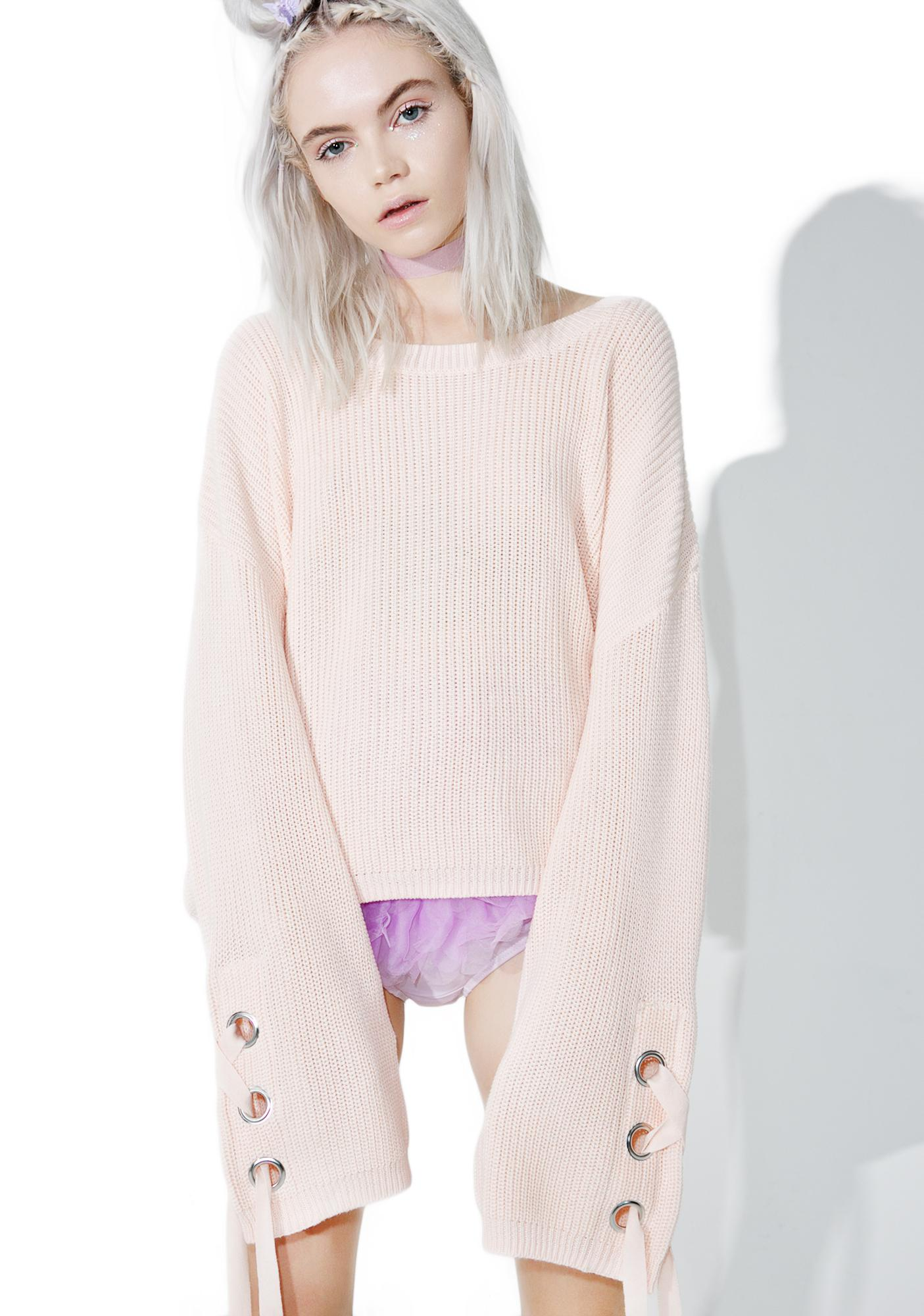 Keen On Ya Lace-Up Sweater