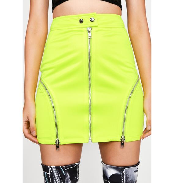 Blinding Attraction Moto Skirt
