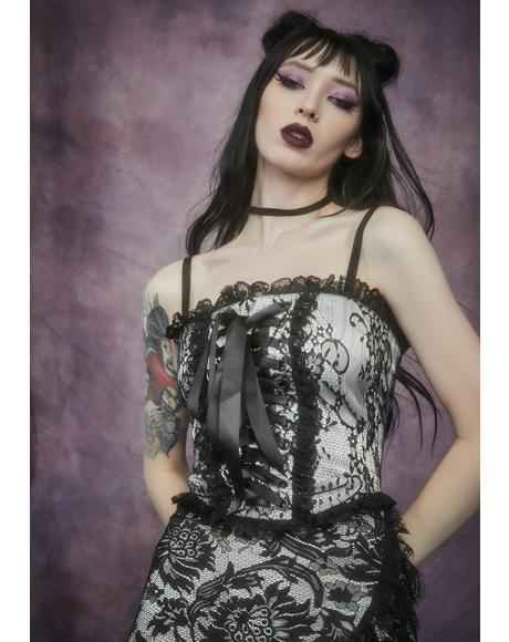 Newest Nightshade Lace Up Corset