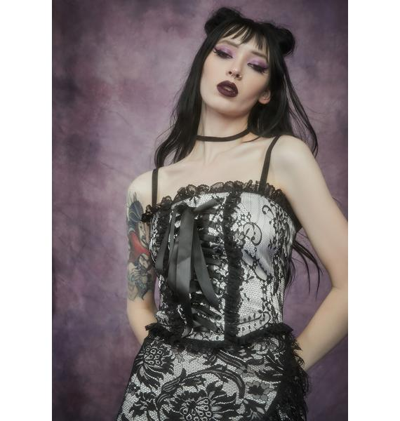 Widow Newest Nightshade Lace Up Corset