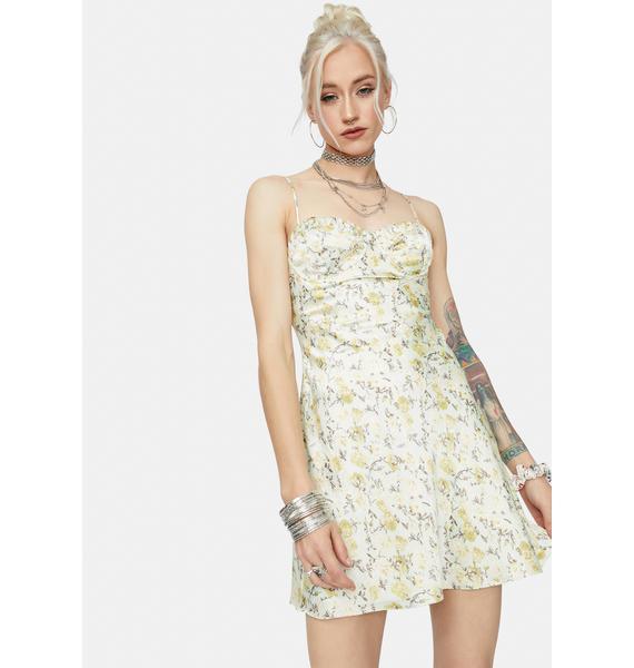 Freaky Fridays Satin Floral Mini Dress