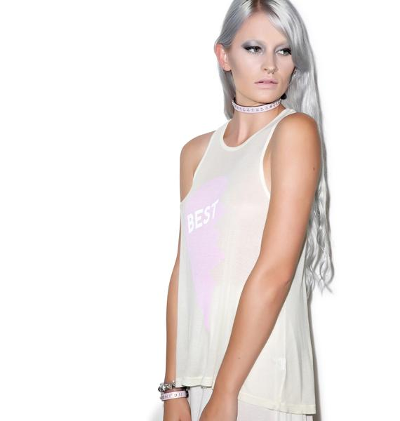Wildfox Couture Friendly Necklace Island Tank