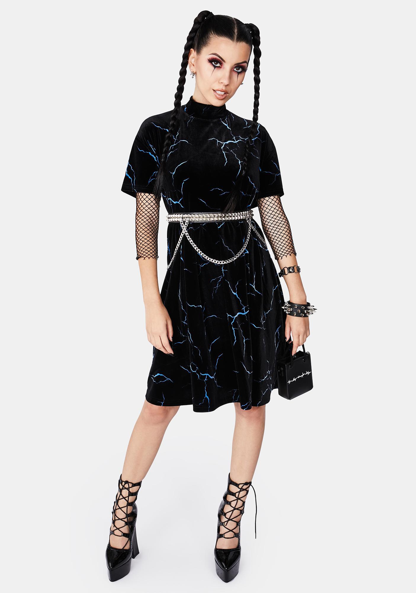 Black Friday Blue Zapped Mini Dress