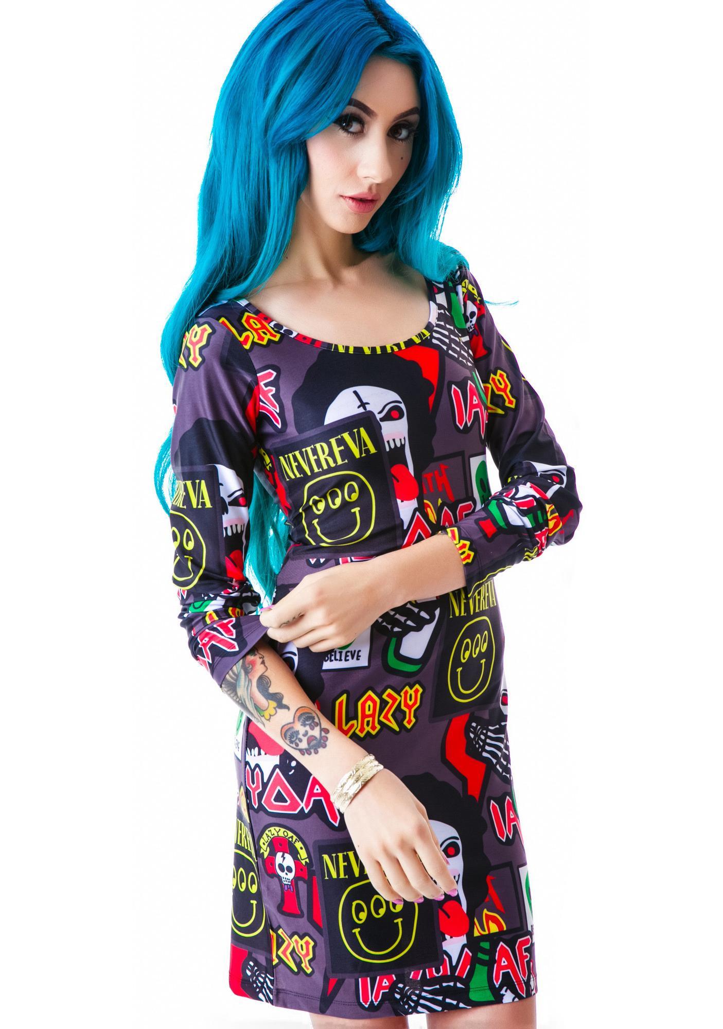 Lazy Oaf Megabreath Bodycon Dress