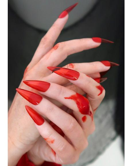 Blood Splatter Nail Polish