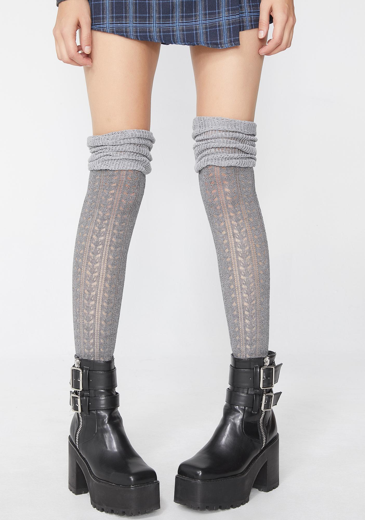 Stoned BB Doll Thigh High Socks