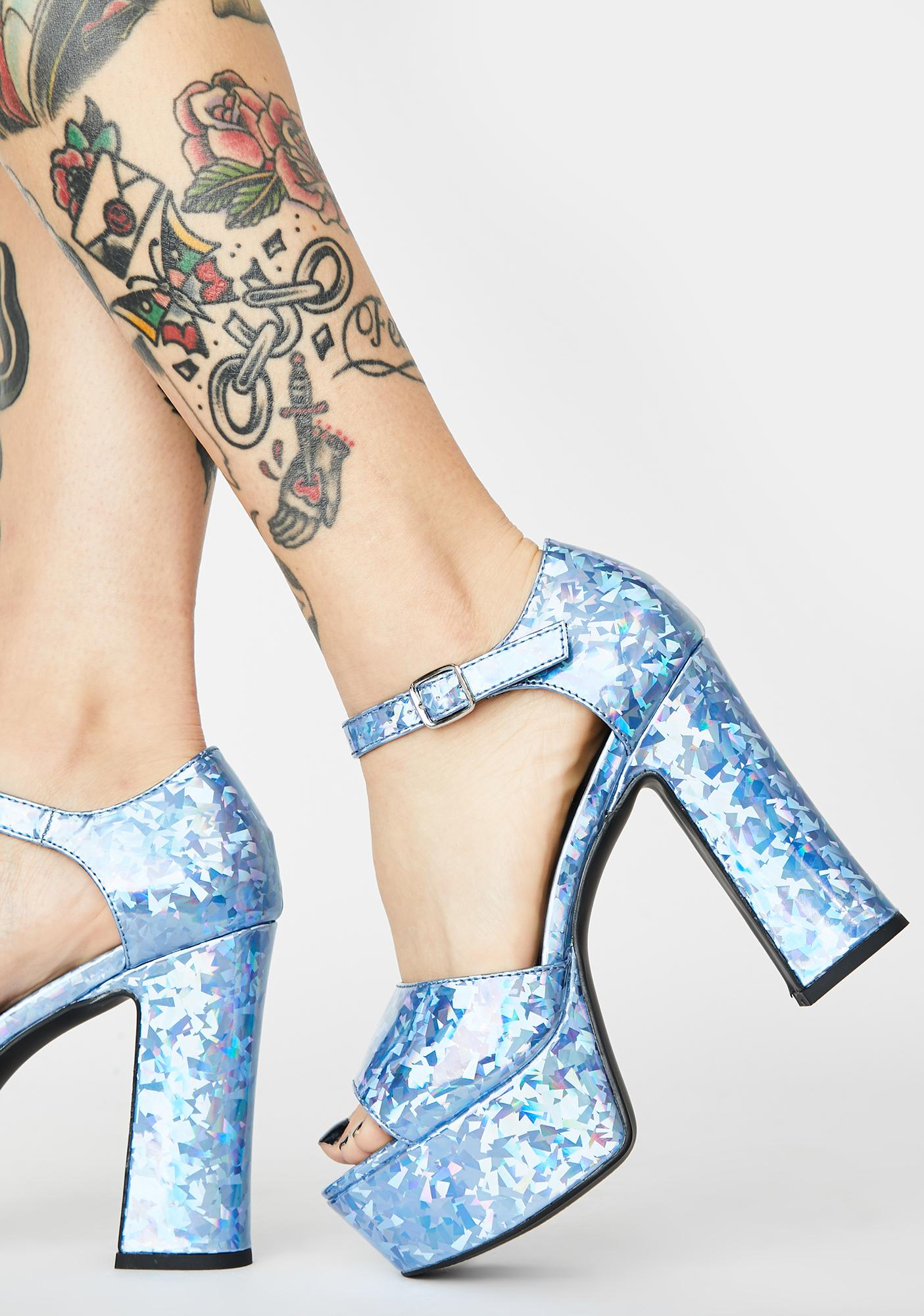 HOROSCOPEZ Crystal Realm Holographic Heels