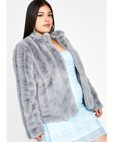 Smoke Run It Up Faux Fur Jacket