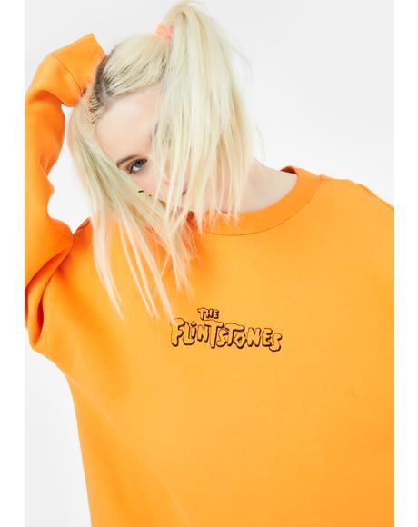 X Flintstones Orange Fred Sweatshirt