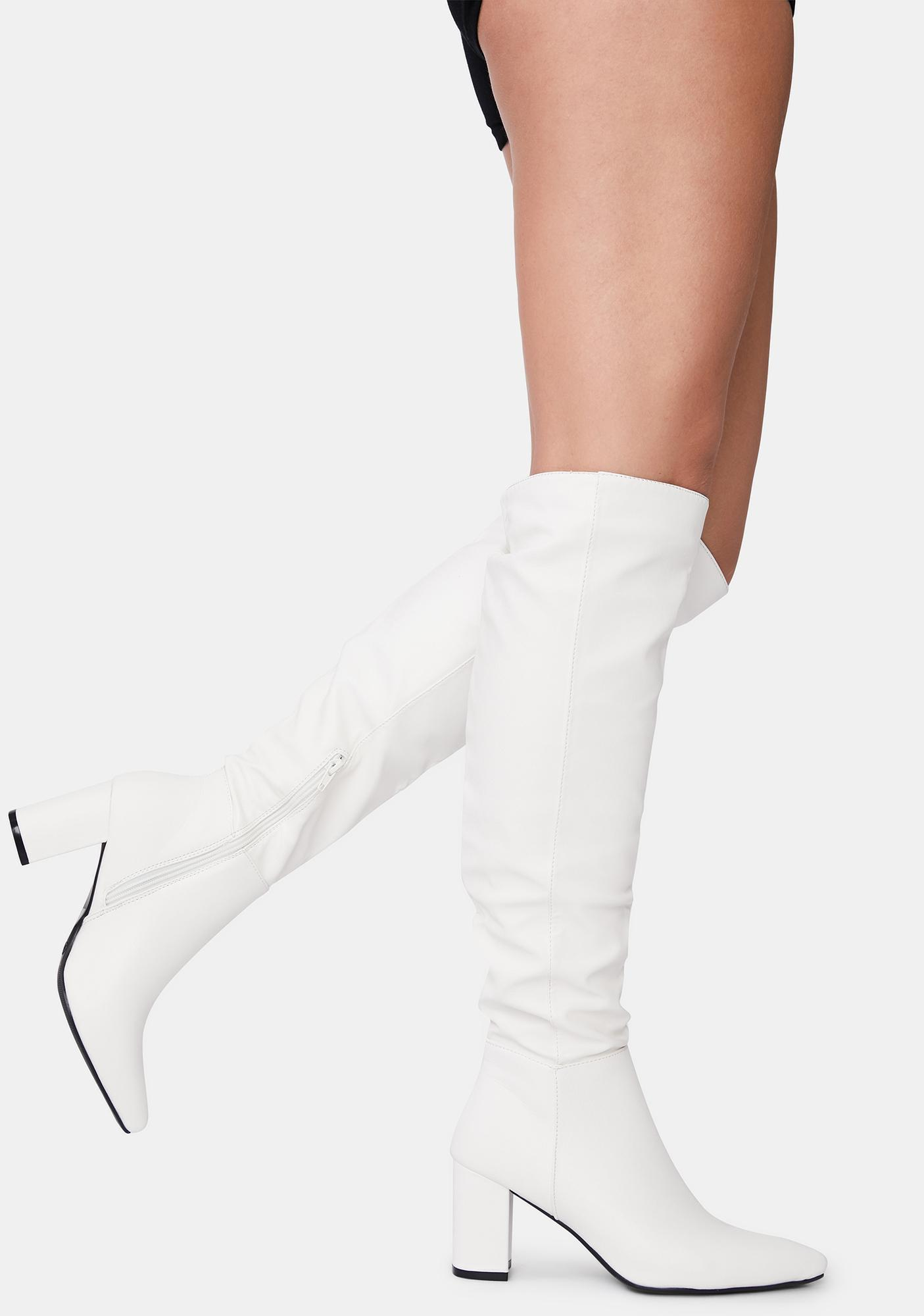 Halo Go Go With The Flow Knee High Boots